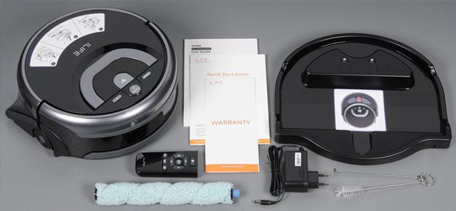 Комплектация робота-пылесоса ILIFE W400